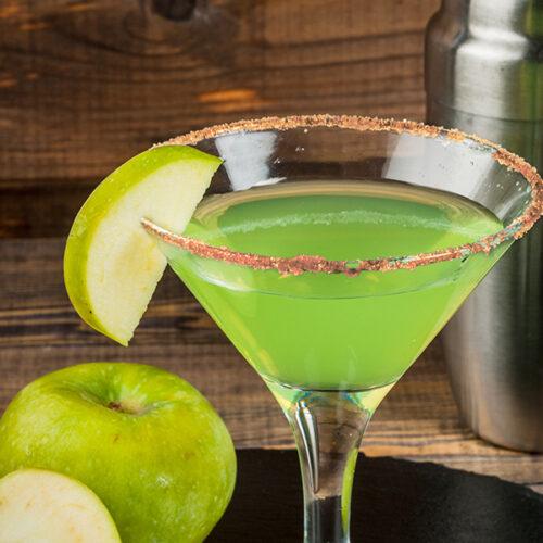 Cinnadust Apple Martini