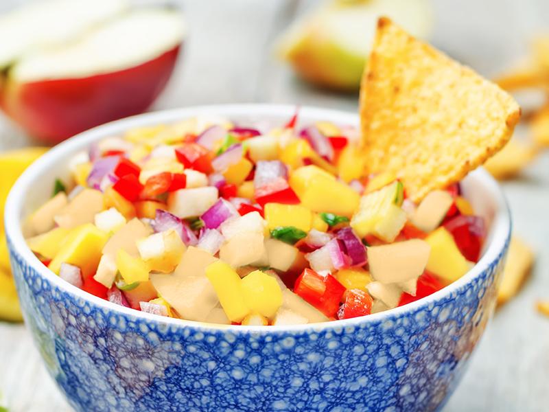 Tone's® Rosemary Garlic Pear and Mango Salsa